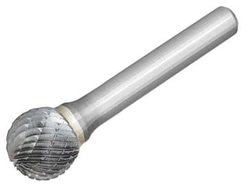 Solid Carbide Bright Rotary Burr Ball 12.7 x 6mm